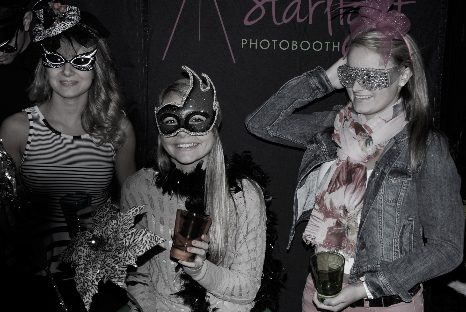 Starlight Photo Booth in Erie, PA with custom and handmade props